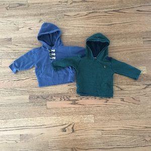 2 Baby Gap hoodies